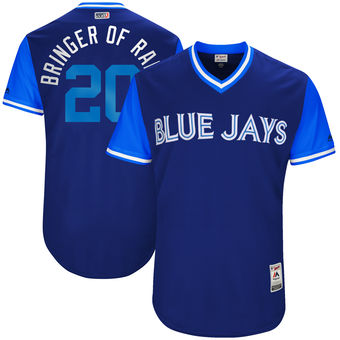 Men's Toronto Blue Jays Josh Donaldson Bringer of Rain Majestic Navy 2017 Players Weekend Authentic Jersey
