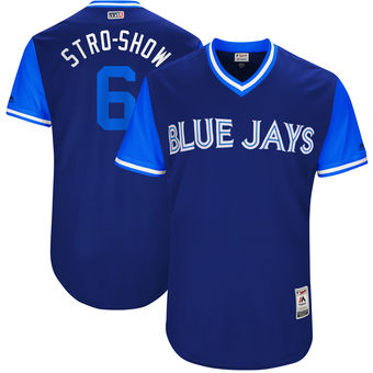 Men's Toronto Blue Jays Marcus Stroman Stro-Show Majestic Royal 2017 Players Weekend Authentic Jersey