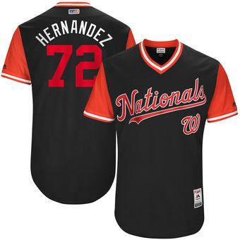 Men's Washington Nationals Enny Romero Hernandez Majestic Navy 2017 Players Weekend Authentic Jersey