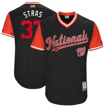 Men's Washington Nationals Stephen Strasburg Stras Majestic Navy 2017 Players Weekend Authentic Jersey