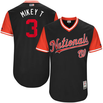 Men's Washington Nationals Michael Taylor Mikey T Majestic Navy 2017 Players Weekend Authentic Jersey