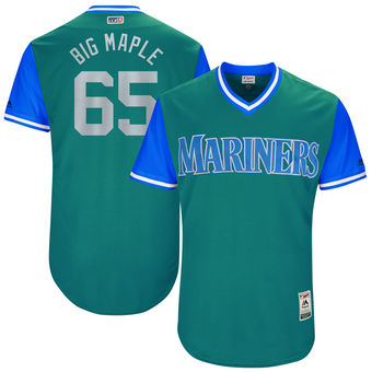 Men's Seattle Mariners James Paxton Big Maple Majestic Aqua 2017 Players Weekend Authentic Jersey