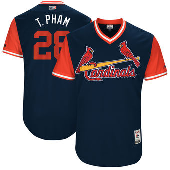 Men's St. Louis Cardinals Tommy Pham T. Pham Majestic Navy 2017 Players Weekend Authentic Jersey