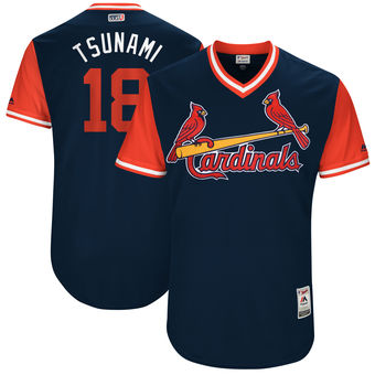 Men's St. Louis Cardinals Carlos Martinez Tsunami Majestic Navy 2017 Players Weekend Authentic Jersey