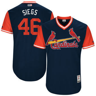 Men's St. Louis Cardinals Kevin Siegrist Siegs Majestic Navy 2017 Players Weekend Authentic Jersey