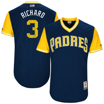 Men's San Diego Padres Clayton Richard Richard Majestic Navy 2017 Players Weekend Authentic Jersey