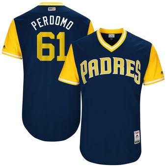 Men's San Diego Padres Luis Perdomo Perdomo Majestic Navy 2017 Players Weekend Authentic Jersey