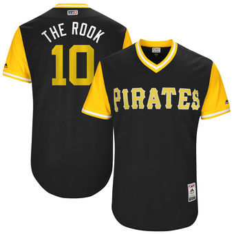 Men's Pittsburgh Pirates Jordy Mercer The Rook Majestic Black 2017 Players Weekend Authentic Jersey