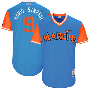 Men's Miami Marlins Dee Gordon Varis Strange Majestic Blue 2017 Players Weekend Authentic Jersey