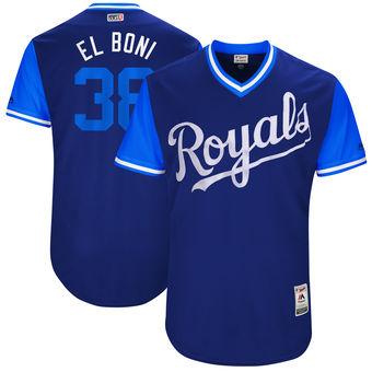 Men's Kansas City Royals Jorge Bonifacio El Boni Majestic Royal 2017 Players Weekend Authentic Jersey