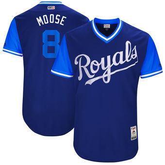 Men's Kansas City Royals Mike Moustakas Moose Majestic Royal 2017 Players Weekend Authentic Jersey