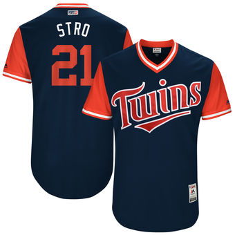 Men's Minnesota Twins Jason Castro Stro Majestic Navy 2017 Players Weekend Authentic Jersey