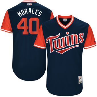 Men's Minnesota Twins Bartolo Colon Morales Majestic Navy 2017 Players Weekend Authentic Jersey