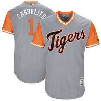 Men's Detroit Tigers Jose Iglesias Candelita Majestic Gray 2017 Players Weekend Authentic Jersey