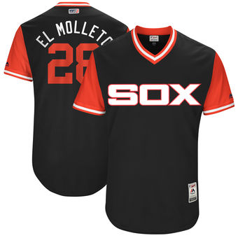 Men's Chicago White Sox Leury Garcia El Molleto Majestic Black 2017 Players Weekend Authentic Jersey