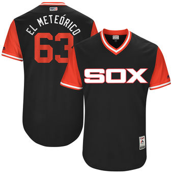Men's Chicago White Sox Gregory Infante El Meteórico Majestic Black 2017 Players Weekend Authentic Jersey