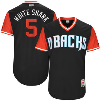 Men's Arizona Diamondbacks Gregor Blanco White Shark Majestic Black 2017 Players Weekend Authentic Jersey