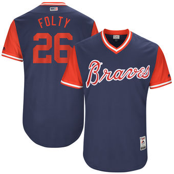 Men's Atlanta Braves Mike Foltynewicz Folty Majestic Navy 2017 Players Weekend Authentic Jersey