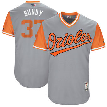 Men's Baltimore Orioles Dylan Bundy Bundy Majestic Gray 2017 Players Weekend Authentic Jersey