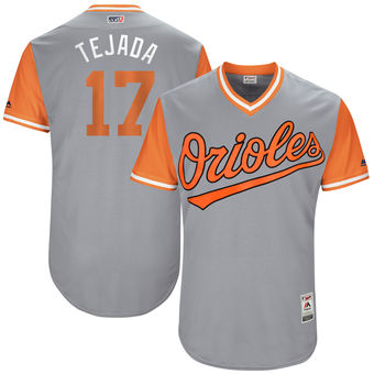 Men's Baltimore Orioles Ruben Tejada Tejada Majestic Gray 2017 Players Weekend Authentic Jersey