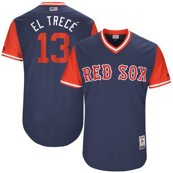 Men's Boston Red Sox Hanley Ramirez El Trecé Majestic Navy 2017 Players Weekend Authentic Jersey