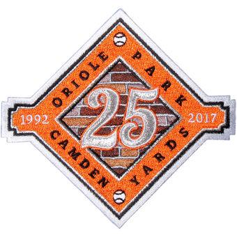 Baltimore Orioles Camden Yards 25th Anniversary Commemorative Patch