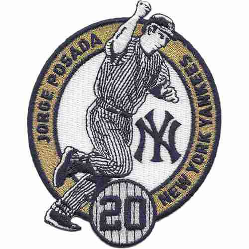 2015 New York Yankees 20 Jorge Posada Commemorative Retirement Patch