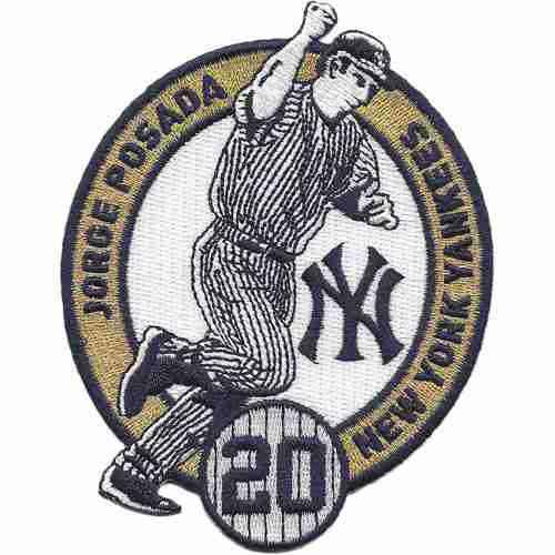 2015 New York Yankees 20 Jorge Posada Commemorative Retirement Patch