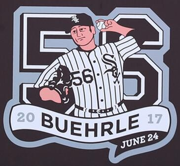 2017 Chicago White Sox #56 Mark Buehrle Retirement Patch