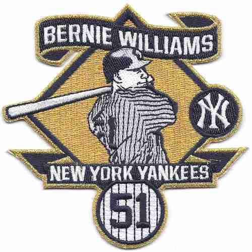 2015 New York Yankees 51 Bernie Williams Commemorative Retirement Patch