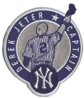 New York Yankees Derek Jeter Retirement Captain Patch