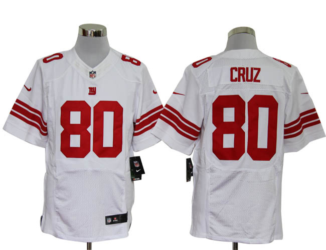 Size 60 4XL-Victor Cruz New York Giants #80 White Stitched Nike Elite NFL Jerseys