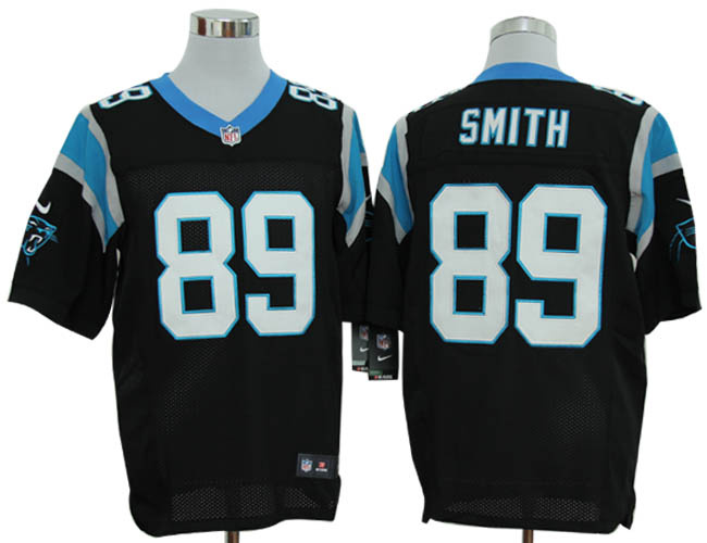 Size 60 4XL-Steve Smith Carolina Panthers #89 Black Stitched Nike Elite NFL Jerseys