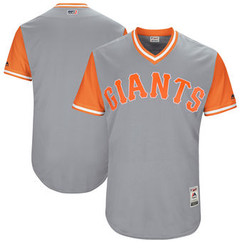 Custom Men's San Francisco Giants Majestic Gray 2017 Players Weekend Authentic Team Jersey