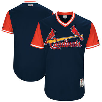 Custom Men's St. Louis Cardinals Majestic Navy 2017 Players Weekend Authentic Team Jersey