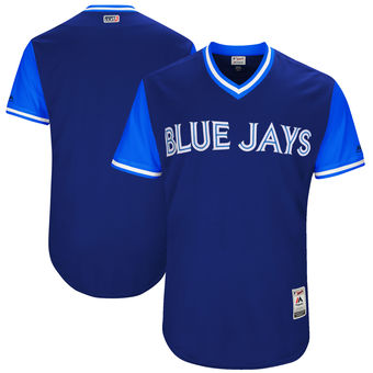 Custom Men's Toronto Blue Jays Majestic Navy 2017 Players Weekend Authentic Team Jersey