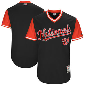 Custom Men's Washington Nationals Majestic Navy 2017 Players Weekend Authentic Team Jersey
