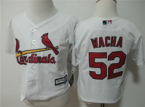 Toddler St. Louis Cardinals #52 Michael Wacha White Home MLB Majestic Baseball Jersey