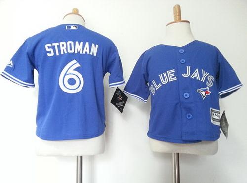 Toddler Toronto Blue Jays #6 Marcus Stroman Blue MLB Majestic Baseball Jersey