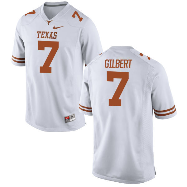 Men's Texas Longhorns 7 Garrett Gilbert White Nike College Jersey