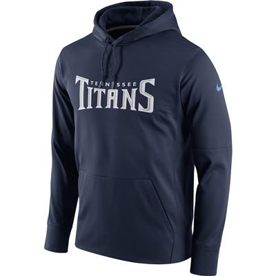 Men's Tennessee Titans Nike Navy Circuit Wordmark Essential Performance Pullover Hoodie