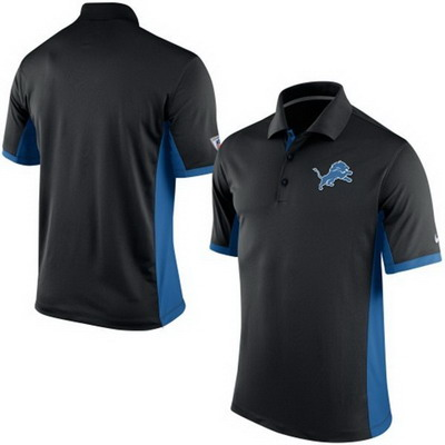 Men's Detroit Lions Nike Black Team Issue Performance Polo