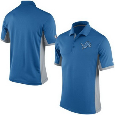 Men's Detroit Lions Nike Blue Team Issue Performance Polo