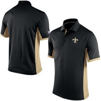 Men's New Orleans Saints Nike Black Team Issue Performance Polo