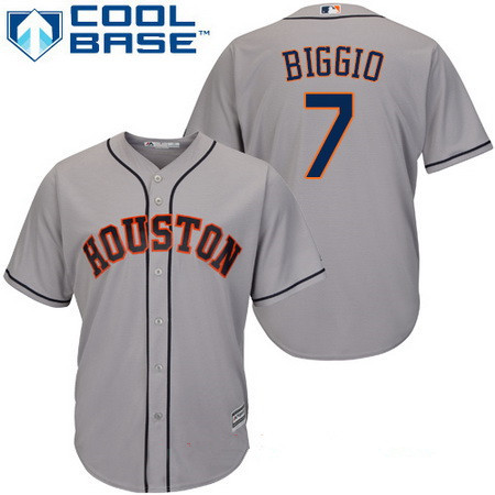 Youth Houston Astros #7 Craig Biggio Retired Gray Road Stitched MLB Majestic Cool Base Jersey