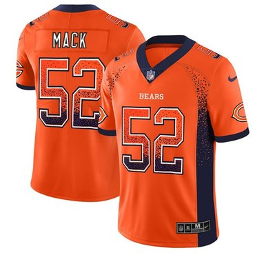 Nike Bears #52 Khalil Mack Orange Alternate Men's Stitched NFL Limited Rush Drift Fashion Jersey