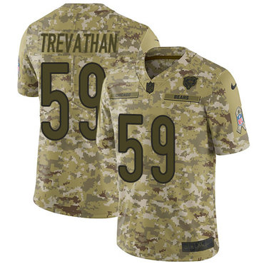 Nike Bears #59 Danny Trevathan Camo Men's Stitched NFL Limited 2018 Salute To Service Jersey