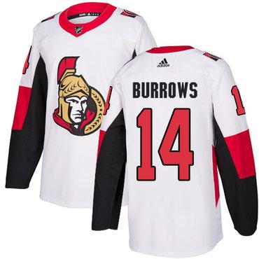 Adidas Men's Ottawa Senators #14 Alexandre Burrows Authentic White Away NHL Jersey