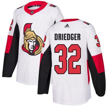 Adidas Men's Ottawa Senators #32 Chris Driedger Authentic White Away NHL Jersey
