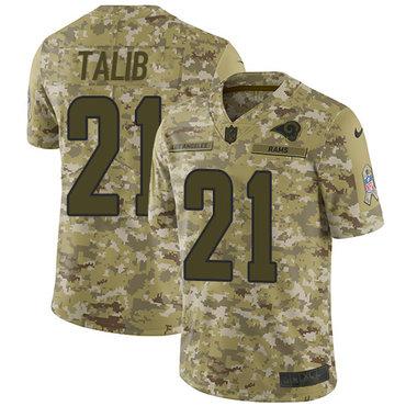 Nike Rams #21 Aqib Talib Camo Men's Stitched NFL Limited 2018 Salute To Service Jersey